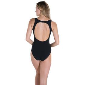 speedo Pureglow 1 Piece Swimsuit Women Black/Oxid Grey/Fluo Orange